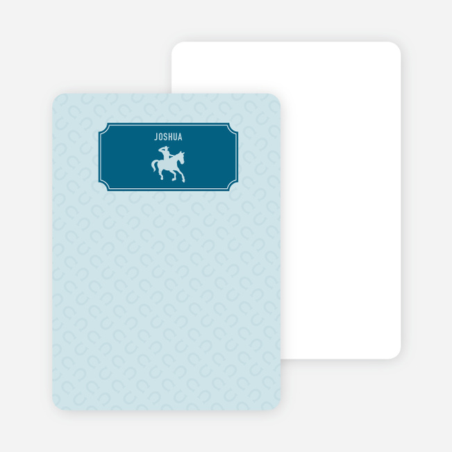 Note Cards: 'Ride 'Em Cowboy' cards. - Cadet Blue