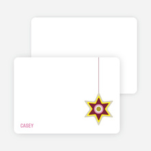Notecards for the 'A Star is Made' cards. - Maroon