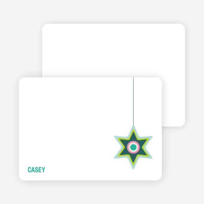 Notecards for the 'A Star is Made' cards. - Teal