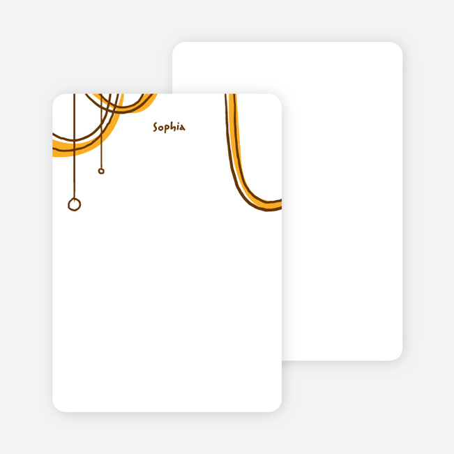 Notecards for the 'Birthday Celebration' cards. - Golden Rod Orange