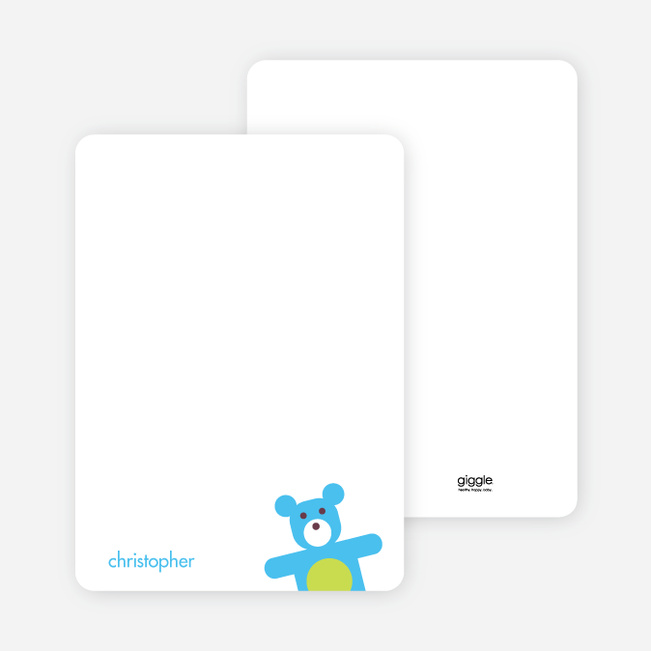 Notecards for the 'Cuddly Teddy Bear' cards. - Purple