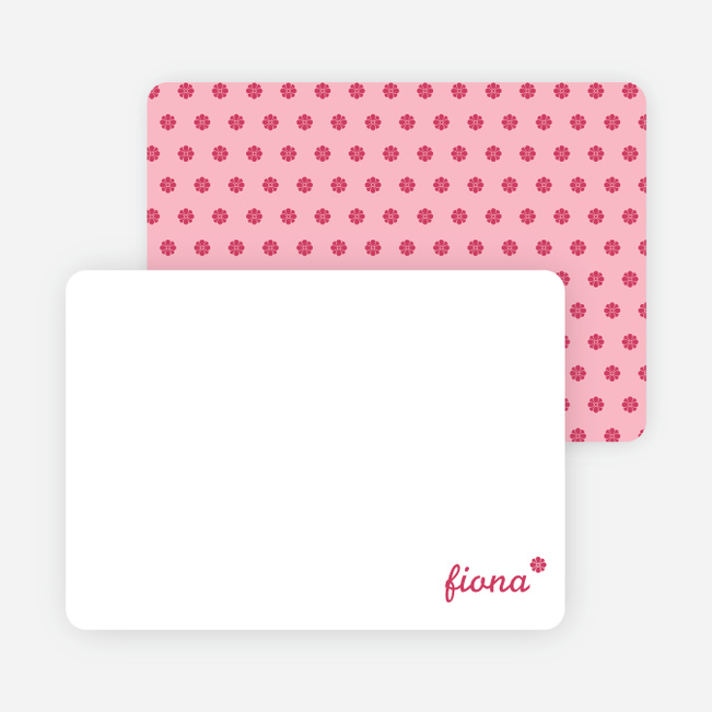 Notecards for the 'It's a Girls' cards. - Magenta