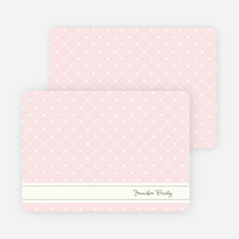Notecards for the 'Quilted Love' cards. - Pale Pink