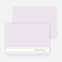 Notecards for the 'Quilted Love' cards. - Lavender