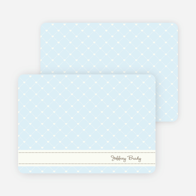 Notecards for the 'Quilted Love' cards. - Baby Blue