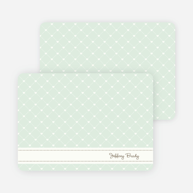 Notecards for the 'Quilted Love' cards. - Mint