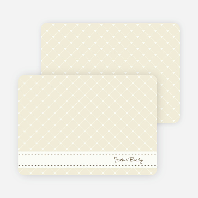 Notecards for the 'Quilted Love' cards. - Wheat