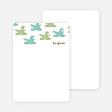Notecards for the 'Soaring Airplane' cards. - Army Green