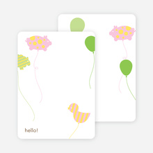 Personal Stationery for Balloon Zoo Modern Birthday Invitations - Periwinkle