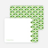 Personal Stationery for Moroccan Stained Glass Invitation - Apple Green