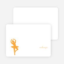 Personal Stationery for Orange Ladybug Modern Birthday Invitation - Apricot
