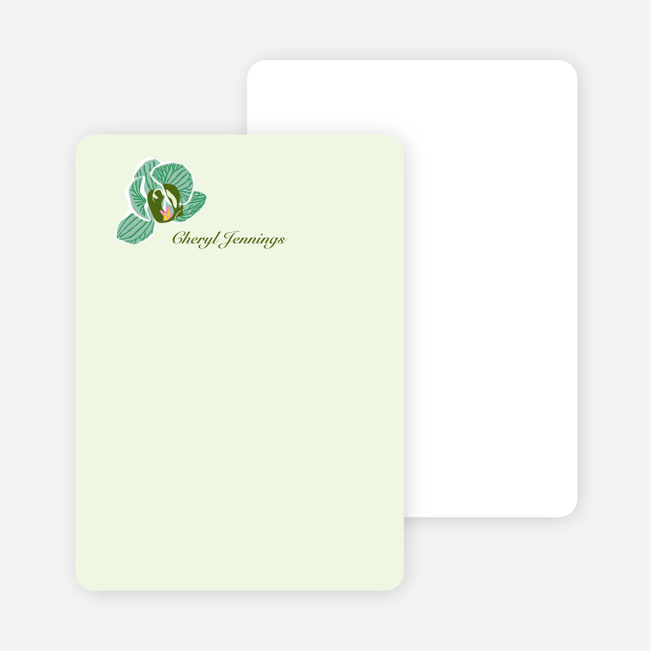 Personal Stationery for Orchid Bridal Shower Invitations - Mint Green