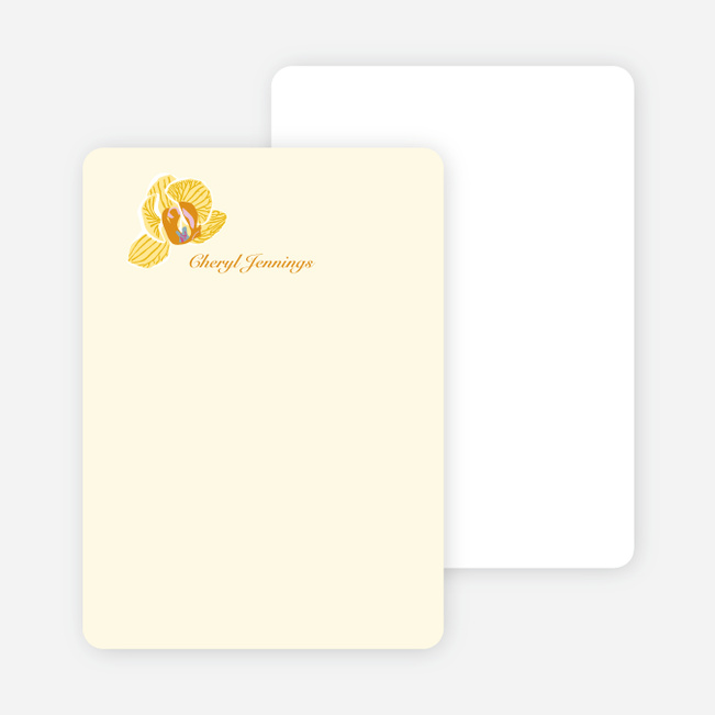 Personal Stationery for Orchid Bridal Shower Invitations - Cream