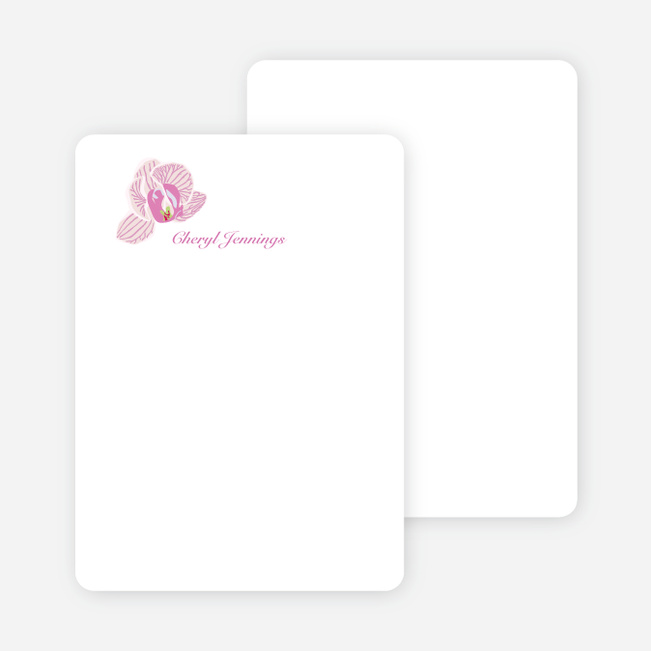Personal Stationery for Orchid Bridal Shower Invitations - White