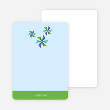 Personal Stationery for Pinwheel Modern Birthday Party Invitation - Shamrock