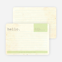 Rustic Paper Stationery - Mint Leaf