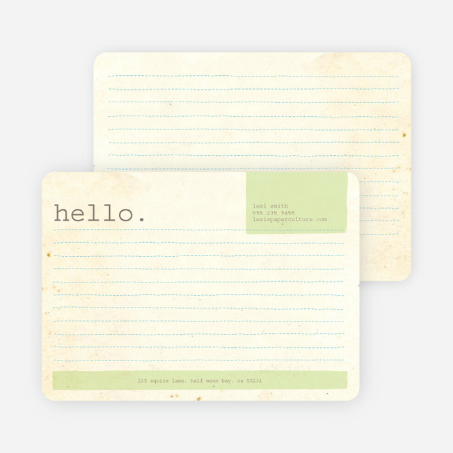 Rustic Paper Stationery - Mint Leaf