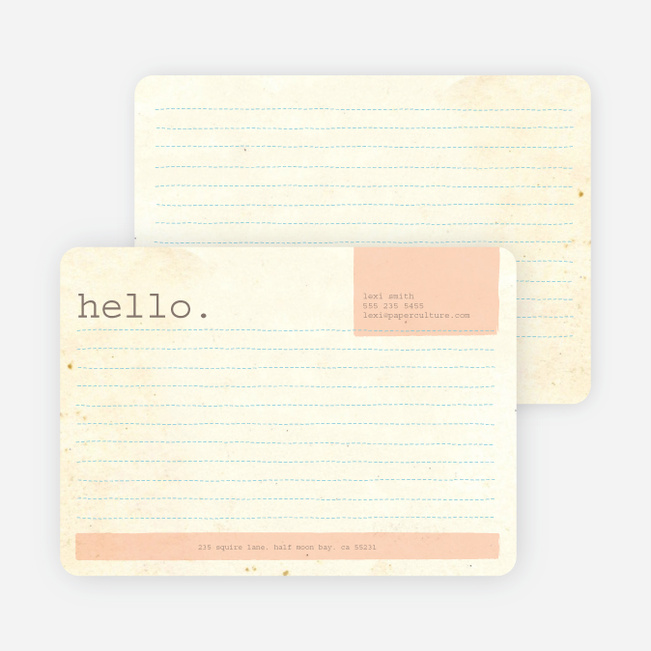 Rustic Paper Stationery - Peachy Cream
