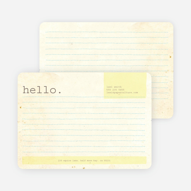 Rustic Paper Stationery - Light Lemon