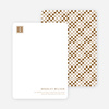 Square Block Initials Stationery - Bronze