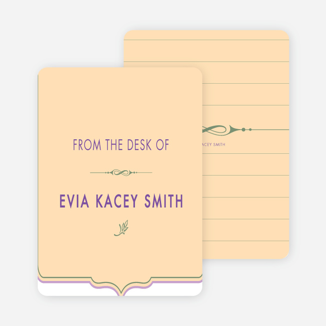 Stationery: 'Chic and Modern' cards. - Pale Apricot