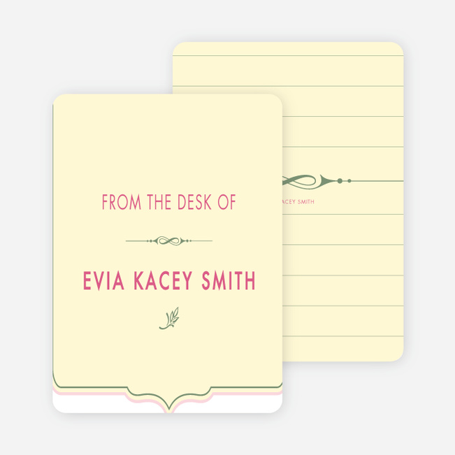 Stationery: 'Chic and Modern' cards. - Vanilla