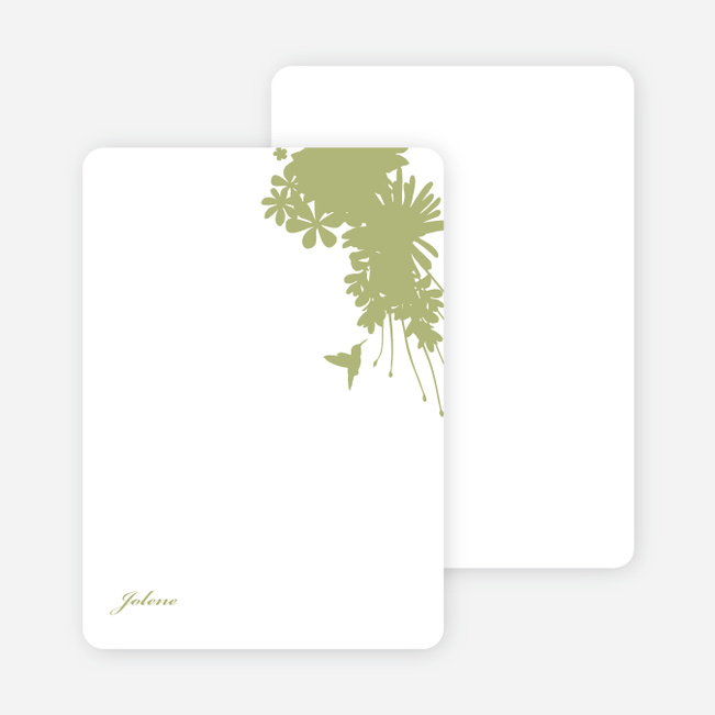 Stationery: 'Nature's Blend' cards. - Sage