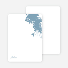 Stationery: 'Nature's Blend' cards. - Pale Blue