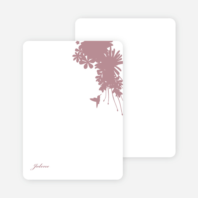 Stationery: 'Nature's Blend' cards. - Rose