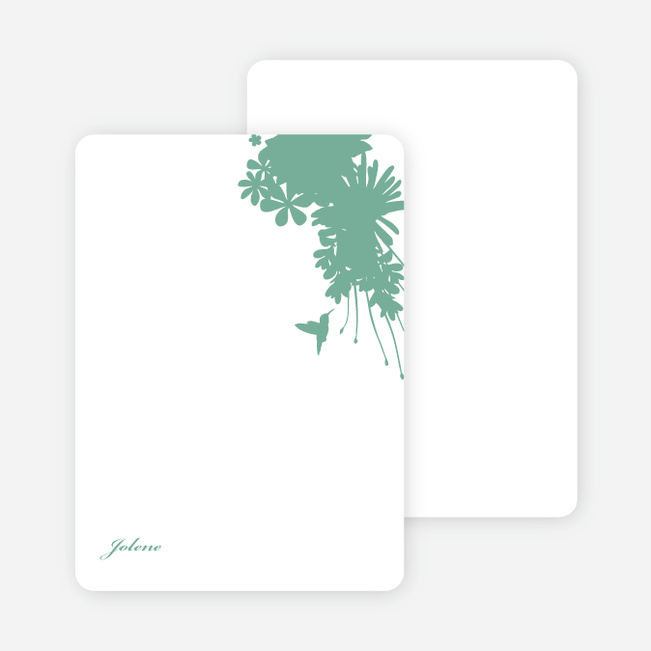Stationery: 'Nature's Blend' cards. - Aquamarine