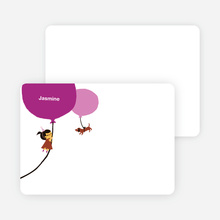 Stationery: 'Purple Balloon, Party Soon' cards. - Orchid Purple