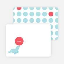 Stationery: 'Sammie Seals' cards. - Azure