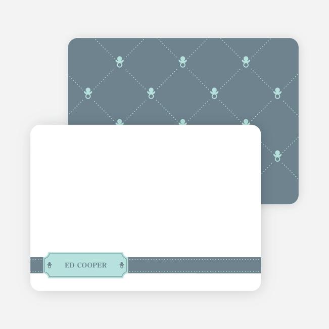 Stationery: 'Sealed with a Binky' cards. - Slate