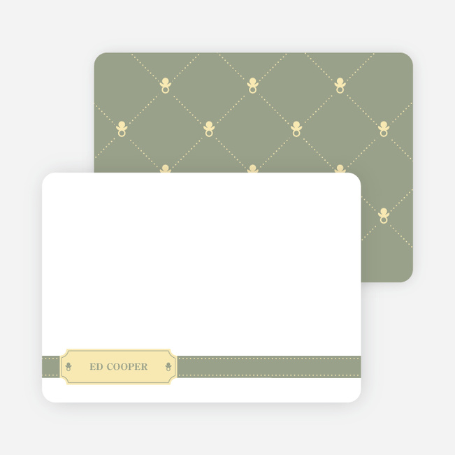 Stationery: 'Sealed with a Binky' cards. - Celadon