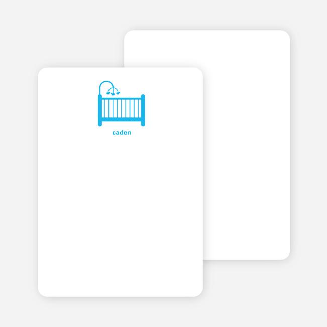 Stationery: 'Shhh! Baby's Sleepin' cards. - Royal Blue