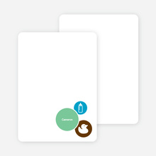 Stationery: 'The Cute Duckling' cards. - Cyan