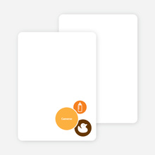 Stationery: 'The Cute Duckling' cards. - Bright Orange