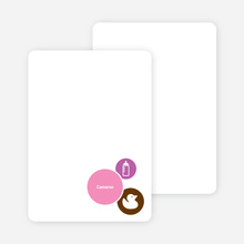 Stationery: 'The Cute Duckling' cards. - Orchid