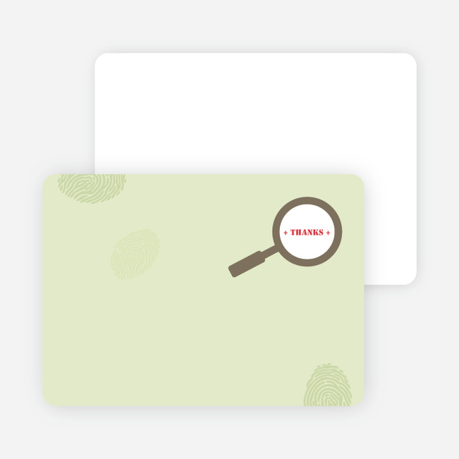 Thank You Card for I Spy You Modern Birthday Invitation - Mushroom