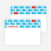 Thank You Card for Red Fire Truck Modern Birthday Invitations - Royal Blue