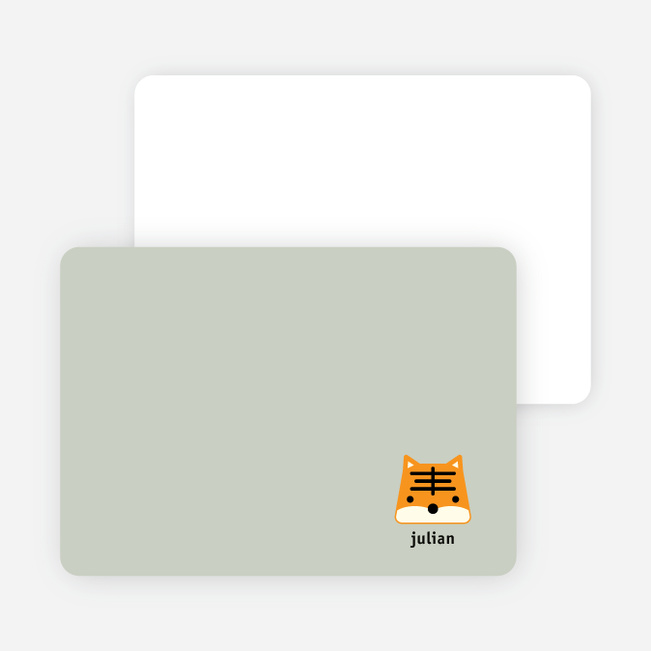 Tony the Tiger Stationery and Note Cards - Sage