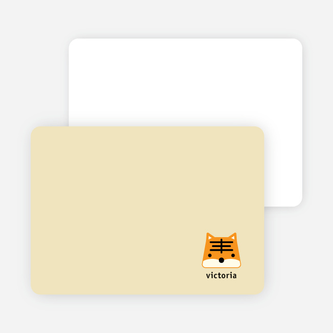 Tony the Tiger Stationery and Note Cards - Light Mustard