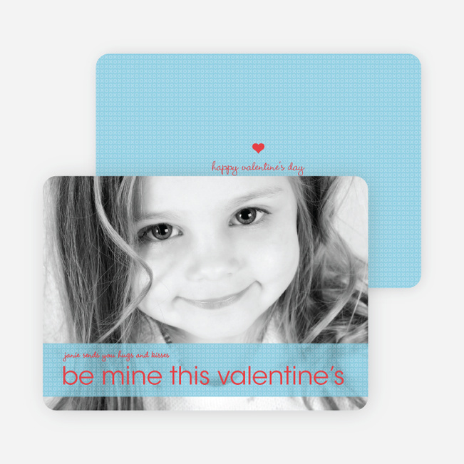 Be Mine Valentine's Day Photo Cards - Mystic Blue