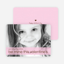 Be Mine Valentine's Day Photo Cards - Lavender