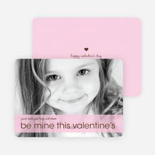Be Mine Valentine's Day Photo Cards - Lavender