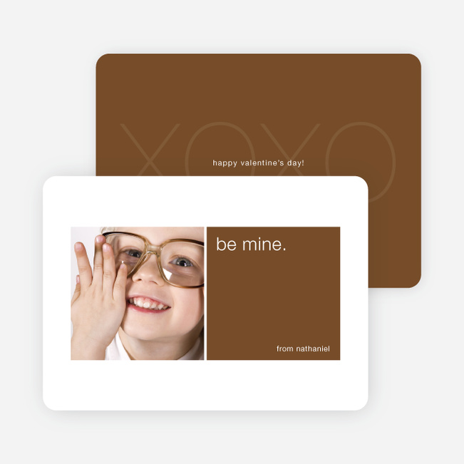 Be Mine Valentine's Day Signature Card - Chocolate