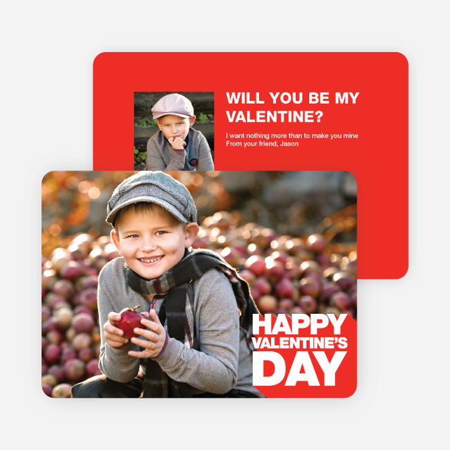 Bold Valentine's Day Cards - Red