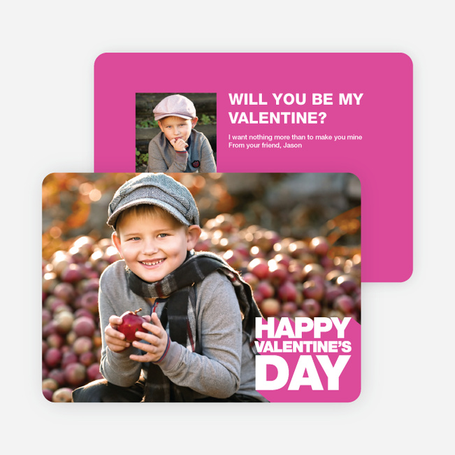 Bold Valentine's Day Cards - Pink