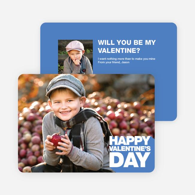 Bold Valentine's Day Cards - Blue