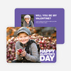 Bold Valentine's Day Cards - Purple